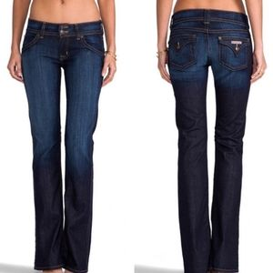 Hudson Bootcut Flap Pocket Jeans 25 Dark Wash